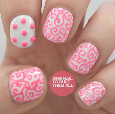 Studs and Swirls. This year, our favorite pink nail designs ... - 20 Pretty In Pink Nail Designs More.com