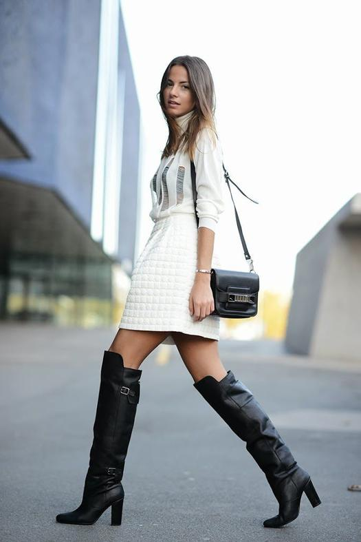 how to wear tall boots with jeans
