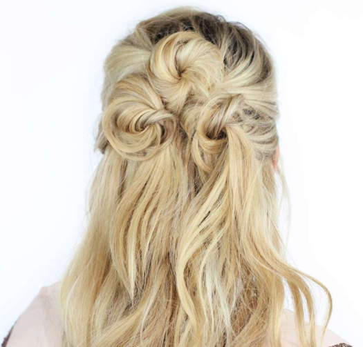 Half Up Half Down Hairstyles back to school cute easy half updo hairstyle youtube Share Pin It Twist Me Pretty This Half Up Half Down Hairstyle