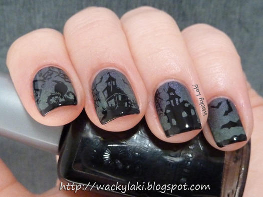 Pinterests best halloween nail designs more haunted house nail art prinsesfo Choice Image