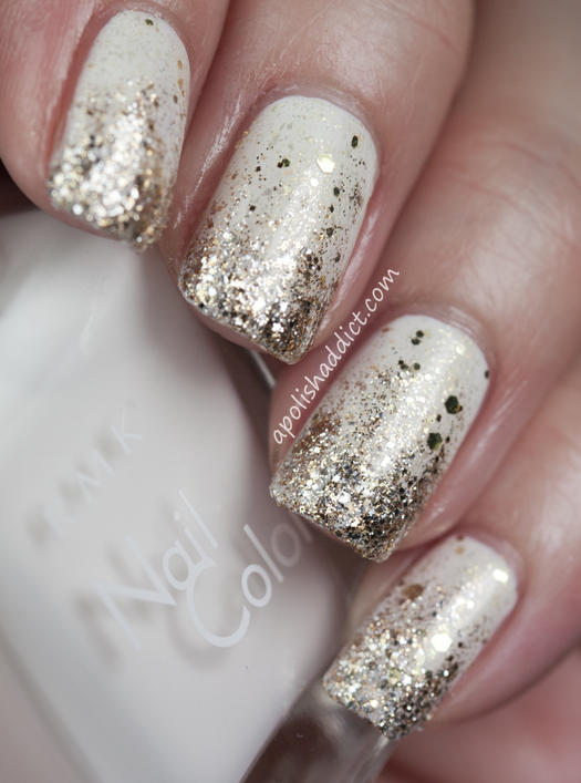 All that glitters gold nail designs we love more golden glitter gradient prinsesfo Choice Image