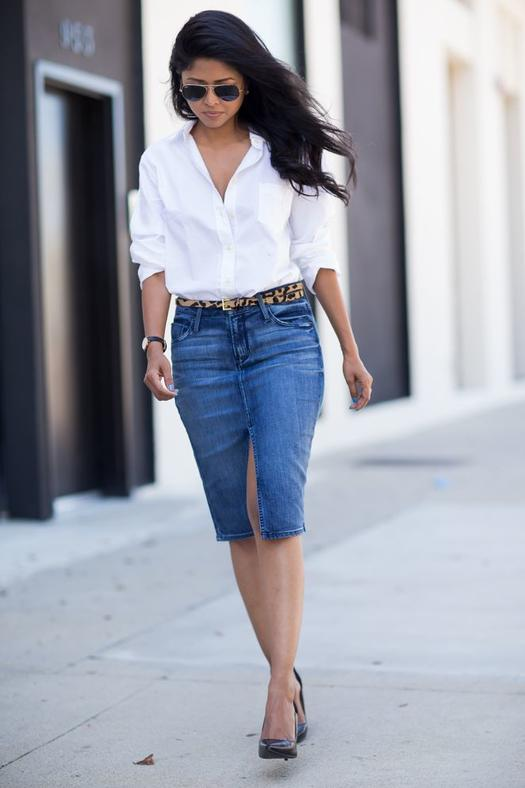16 Fresh Ways To Wear A Denim Skirt | more.com