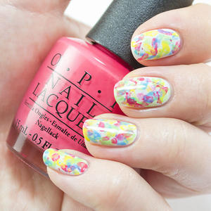 Abstract Nail Art That Makes a Splash ... of Color!