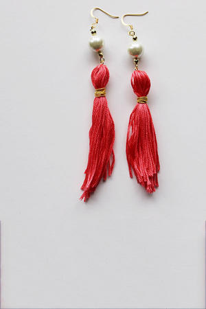 Adorable Tassel Earrings You Can Make Yourself