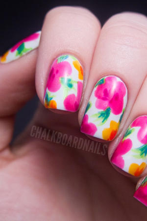 Nail art how to snowflake design more our favorite floral nail looks prinsesfo Image collections