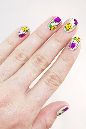 Nail art how to snowflake design more freehand fun floral nail art for spring prinsesfo Image collections