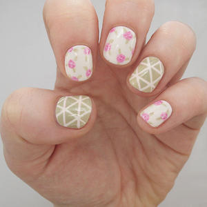 Nail Art Tutorial: Geometric Roses
