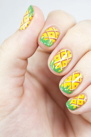 Summer Nails! Pineapple Party Nail Art
