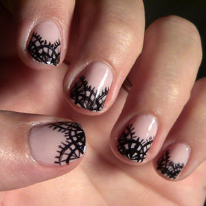 Black Lace Nail Art