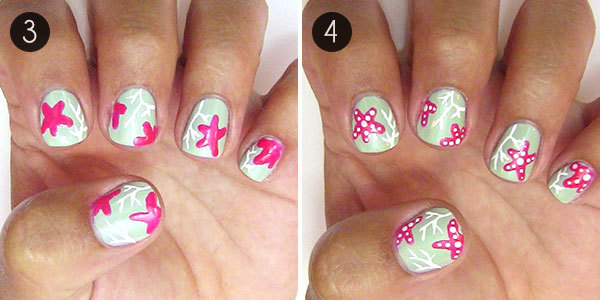 Coral Reef Nail Art - Summer Nails: Coral Reef Nail Art More.com