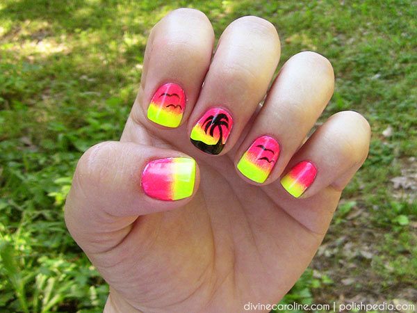 Wonderful Swirl Nail Polish Small Nail Art Games For Kids Clean How To Do Nail Art Designs Step By Step Nail Art Tv Show Young Best Nail Polish Blogs PinkNail Art Stickers Online Summer Nail Art: Sunset Palm Tree Nail Design | More