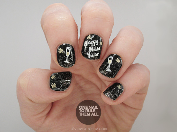 A tutorial to toast fun nail art for the new year more new year prinsesfo Images