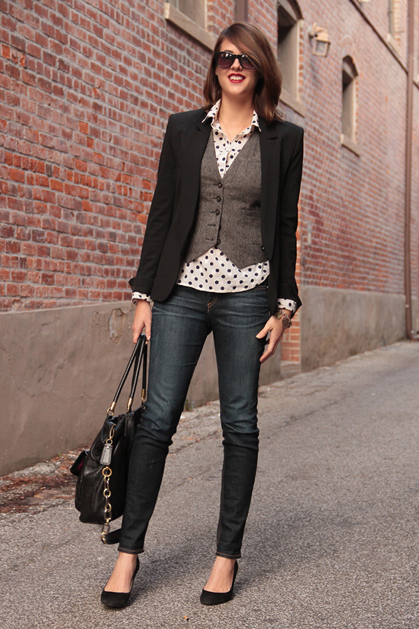 winter-to-spring outfit skinny jeans