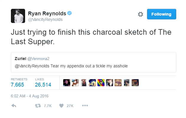 Ryan Reynolds Best Responses To Sex Propositions On Twitter - Ryan reynolds politely responds to fans dirty tweets and its just hilarious