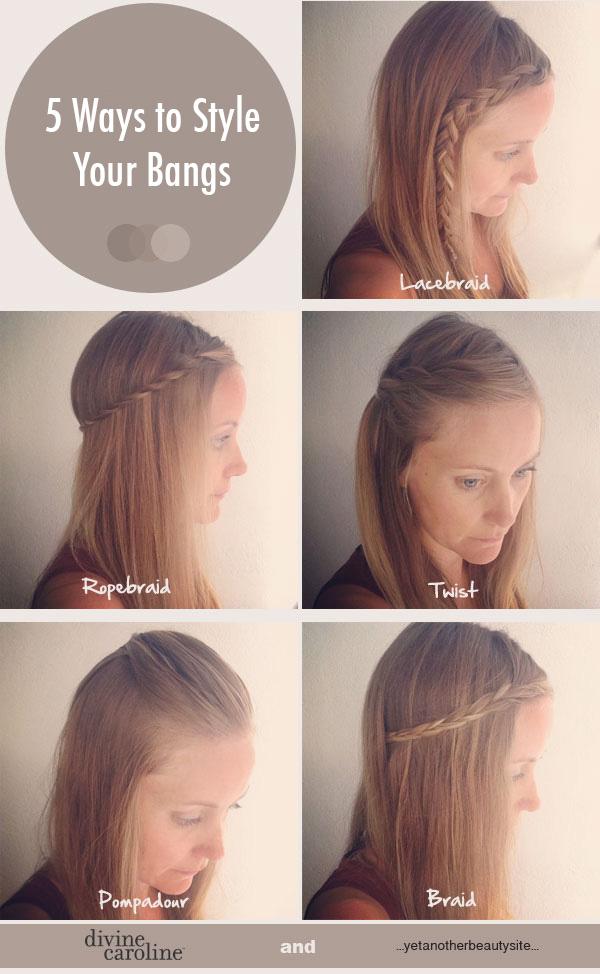Incredible 5 Quick And Easy Ways To Style Your Bangs More Com Hairstyles For Men Maxibearus