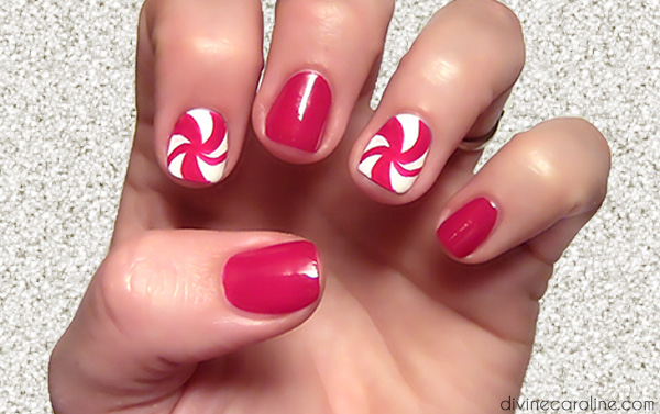 Holiday nail art swirly curly candy canes more holiday nail art swirly curly candy canes prinsesfo Choice Image