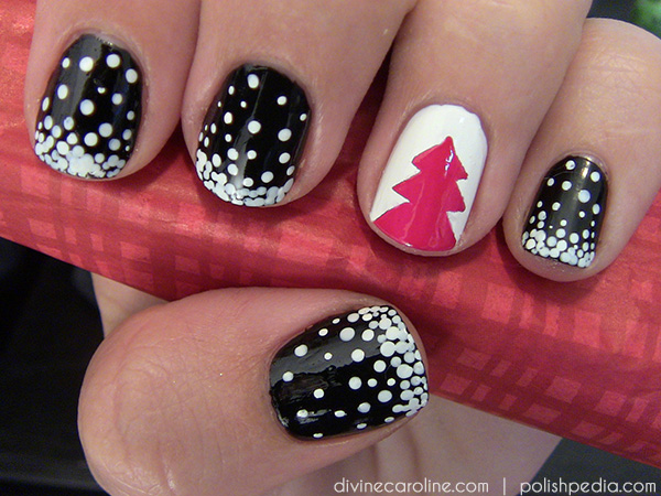 Christmas tree nail art design more i know these designs look hard to do but they were both pretty easy to make i didnt use anything fancy unless you think a dotting tool is fancy prinsesfo Images