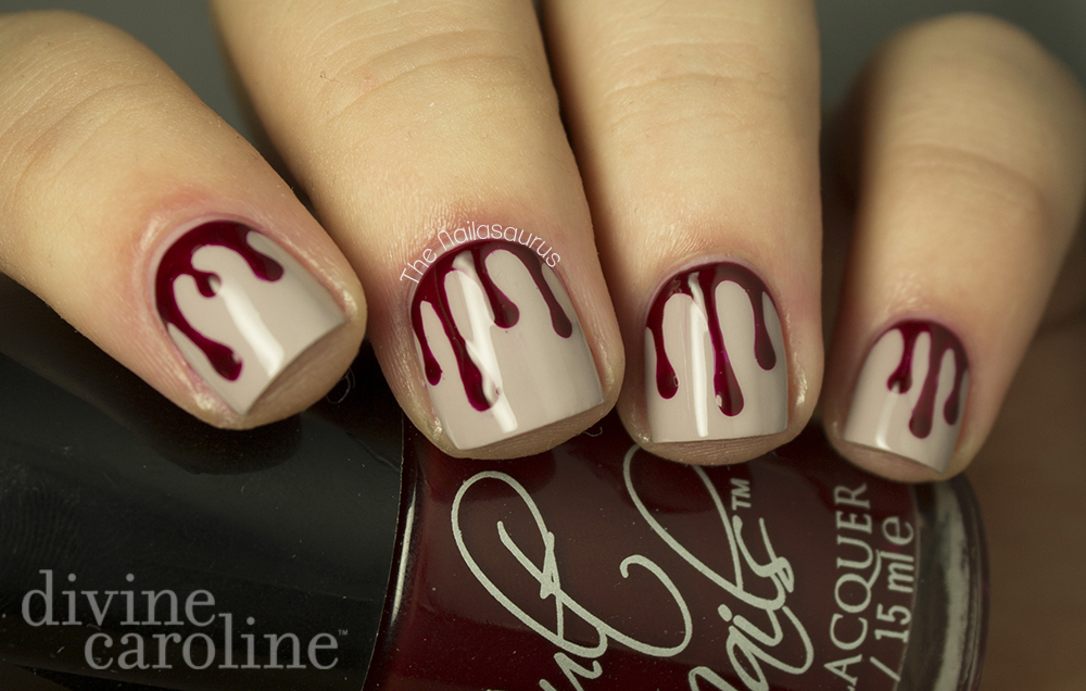 Halloween manicure blood drip nail art more halloween manicure blood drip nail art prinsesfo Choice Image