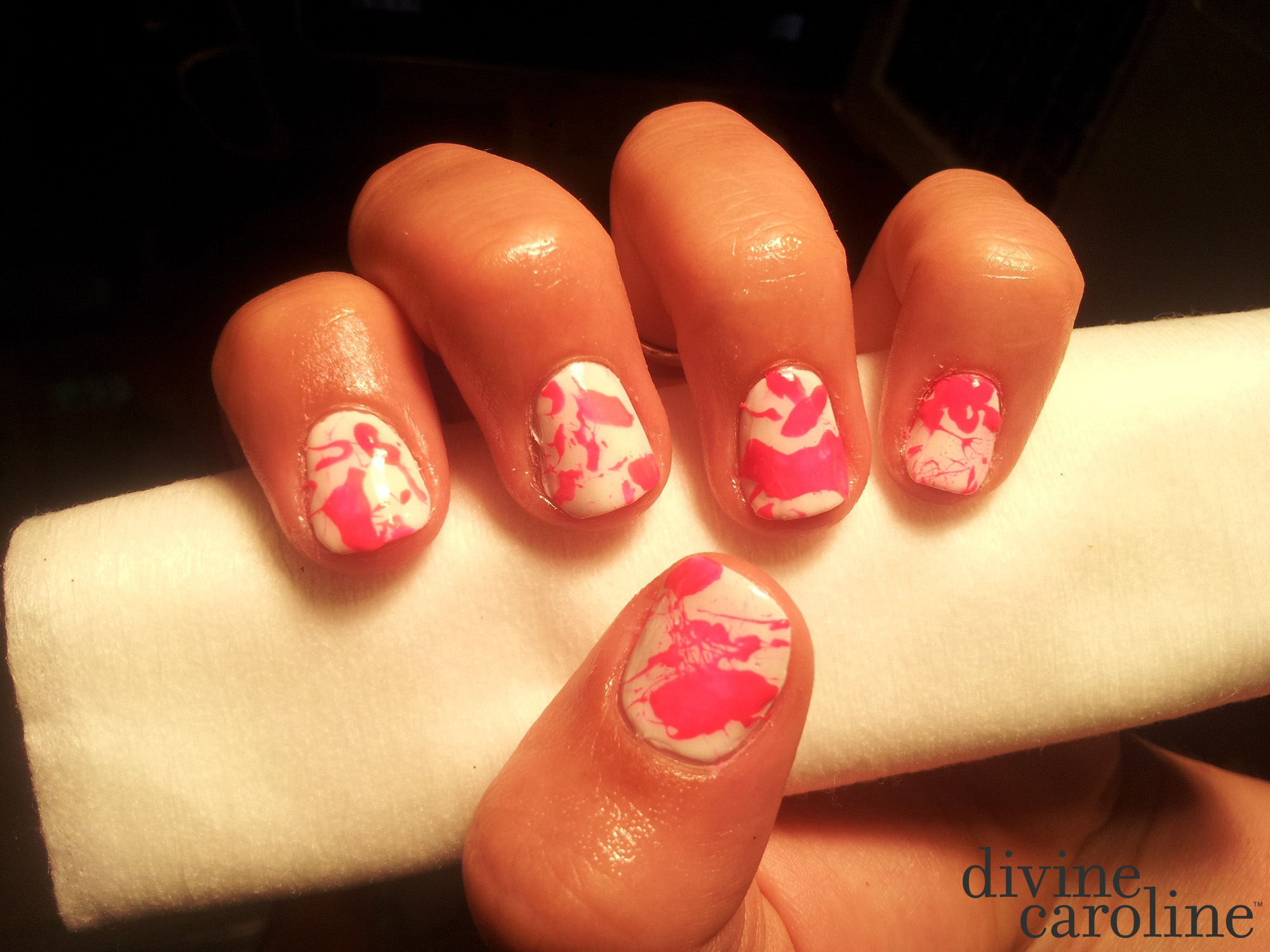Splatter nail art more splatter nail art prinsesfo Image collections