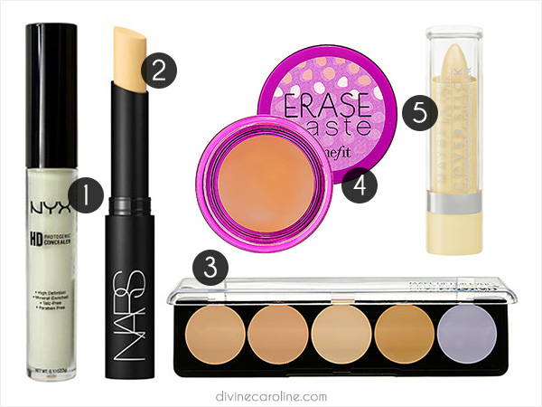 color correcting concealers - Concealer Color Guide