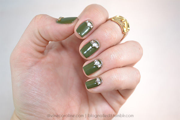 Luxe of the irish st patricks day nail art tutorial more this versatile nail design would look good in any color but i used westside warrior a rich green to celebrate the luxe of the irish this st patricks prinsesfo Images