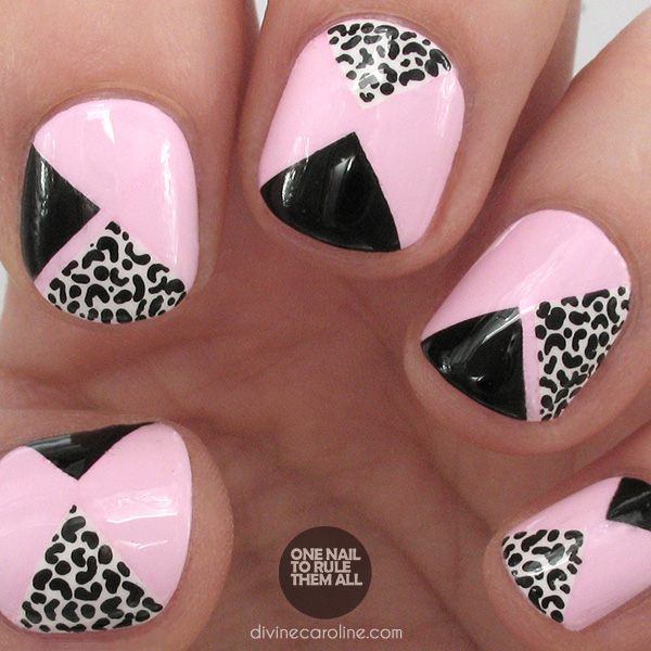 Nail Art: Take a Walk on the Wild Side with Pink Geometric Leopard ...