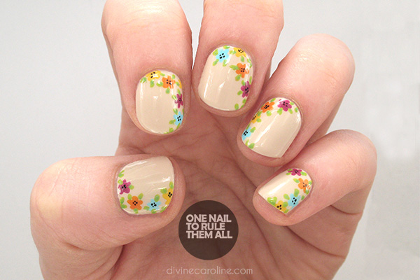Easy floral nail art to try this summer more 600storysidefloralg its no secret that i like floral nail art prinsesfo Images
