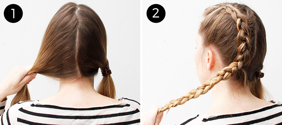 Dutch Braids: Steps 1-2
