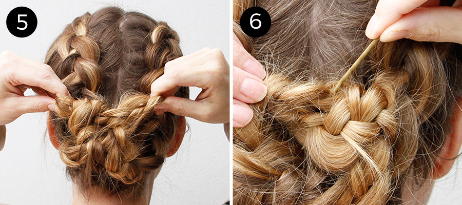 Dutch Braids: Steps 5-6