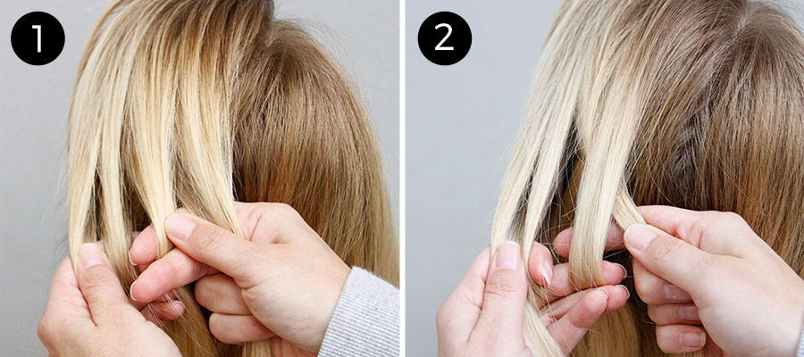 Four-Strand Braid: Steps 1-2