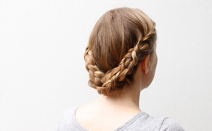 Braided Updo with Lovely Lace Braids