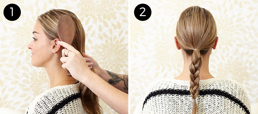 Braided Chignon: Steps 1-2