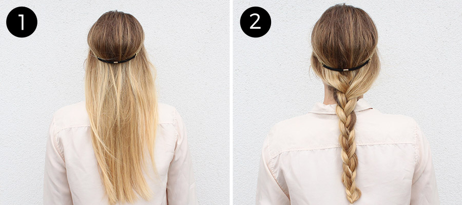 Braided Headband: Steps 1-2