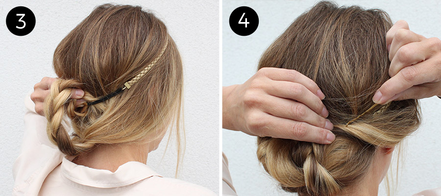 Braided Headband: Steps 3-4
