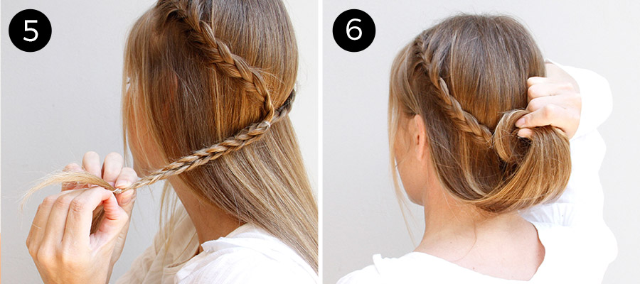 Crown Braid with a Bun