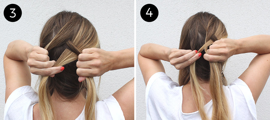Double Diagonal Lace Braid: Steps 3-4