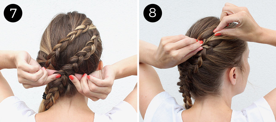 Double Diagonal Lace Braid: Steps 7-8