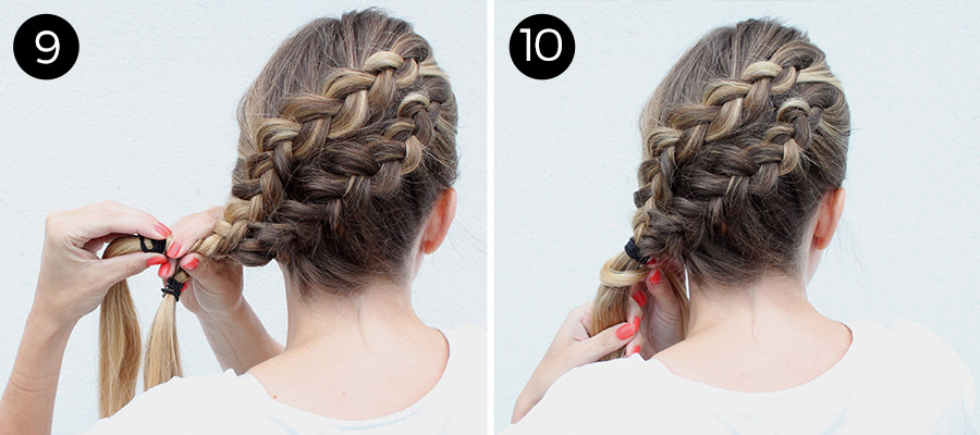 Double Diagonal Lace Braid: Steps 9-10