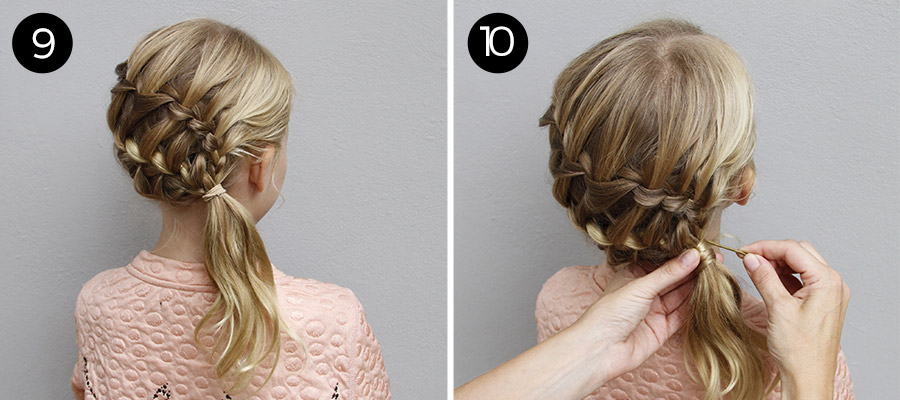 Try This Hairstyle: Diagonal Ladder Braid into Side Ponytail