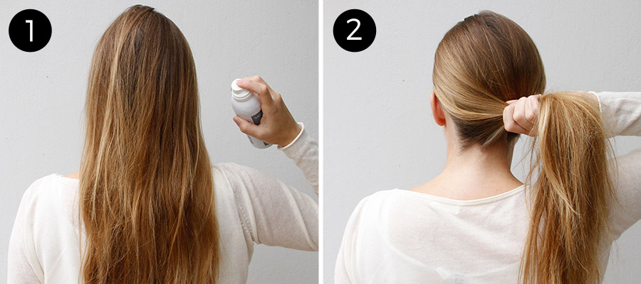 french twist: step 1 and 2