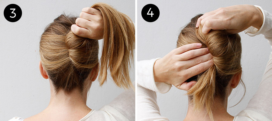 french twist: step 3 and 4