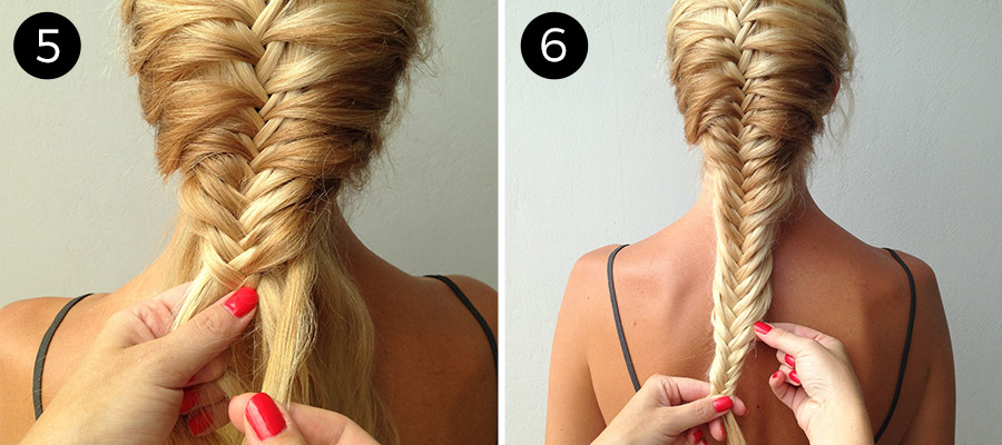 Fishtail Mermaid Braid: Step 5 & 6