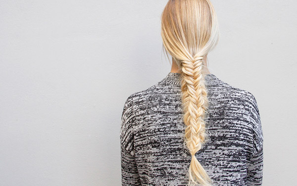 fresh twist on a split fishtail braid