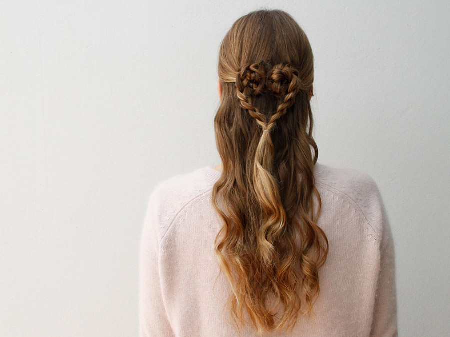 Schön Valentineu0027s Day Is All About Celebrating Loveu2014of Our Friends, Our  Sweethearts, And Our Hair! Try Out This Braided, Heart Shaped Style For A  Night Out Or A ...