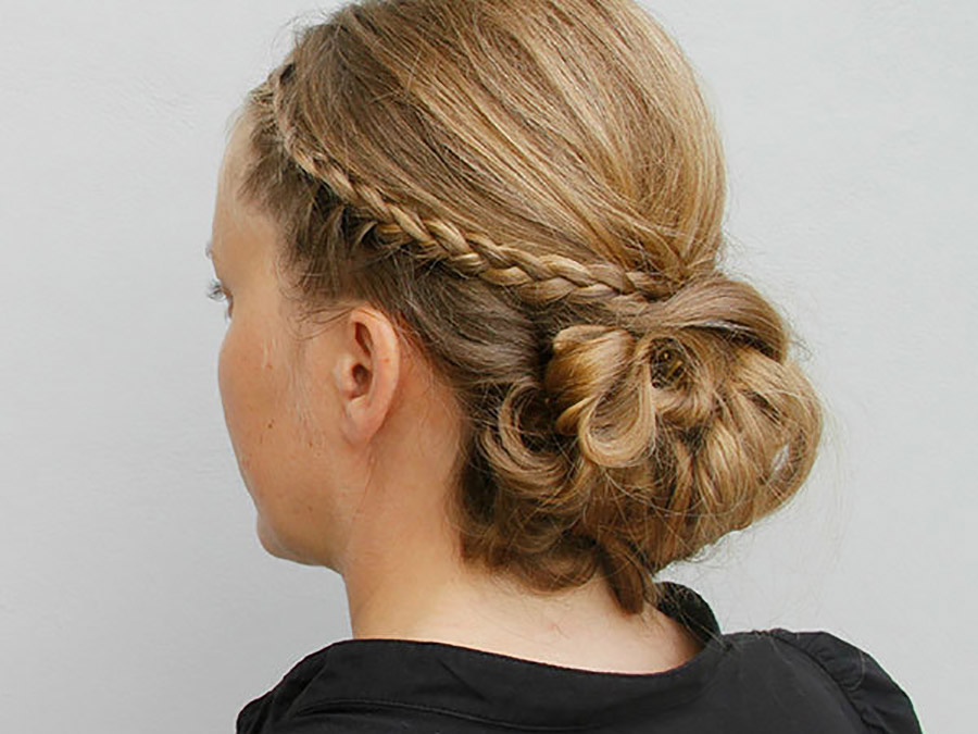 Jessica Alba-Inspired Updo with Braids