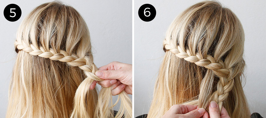 Dutch Lace Braid: Steps 5-6
