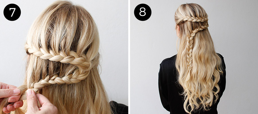 Dutch Lace Braid: Steps 7-8