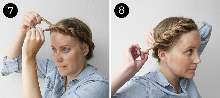 Easy Updo Twisted Crown Braid