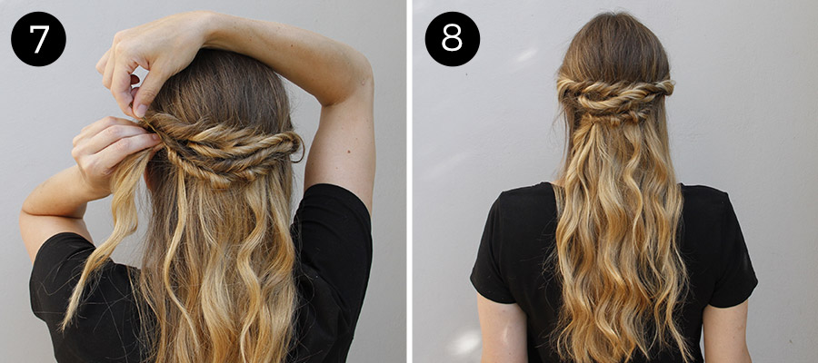 Twisted Half Updo: Steps 7-8