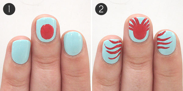 Under the sea octopus summer nail art to try more octopus nails steps 1 2 prinsesfo Image collections
